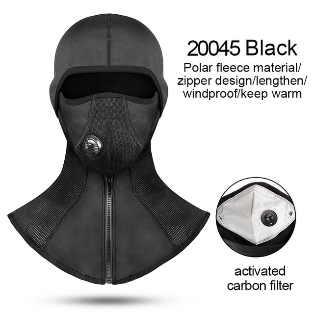 Winter Cycling Face Mask Fleece Thermal Windproof Bike Cap Ski Fishing Skating Hat Snowboard Mask - Ylime