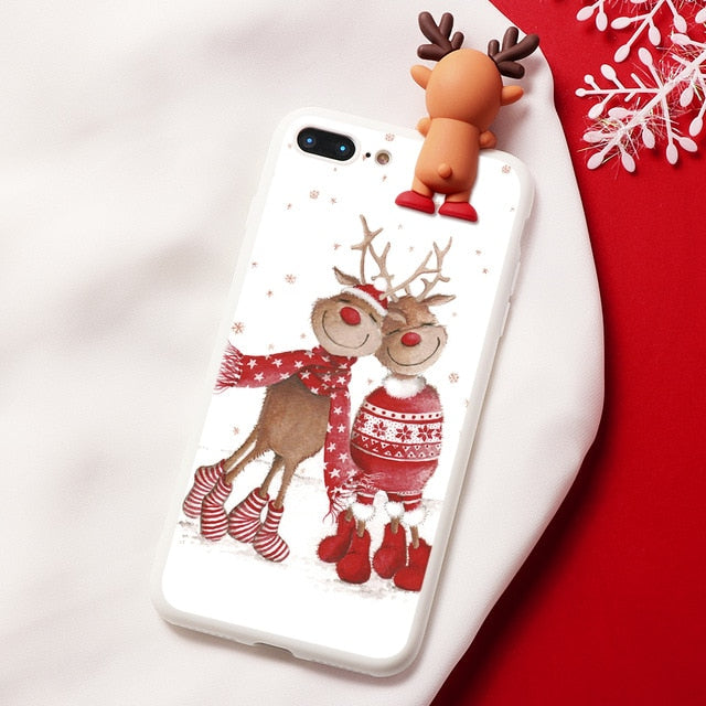 Christmas Cartoon Deer Case For iPhone - Ylime