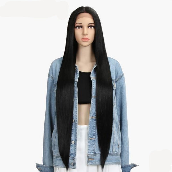Long Straight Synthetic Cosplay Lace Wig - Ylime