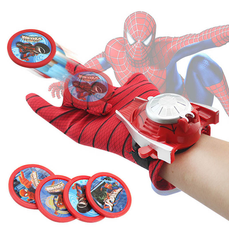 5 Styles PVC Batman Glove Action Figure Spiderman Launcher Toy Kids Suitable Spider Man Cosplay Toys - Ylime