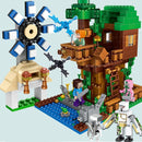 Minecraft Mountain Cave Village City Tree House With Elevator Bricks Toys - Ylime