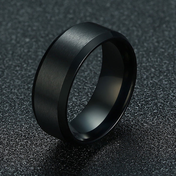 Stainless Steel Colorful Man Fashion Ring - Ylime