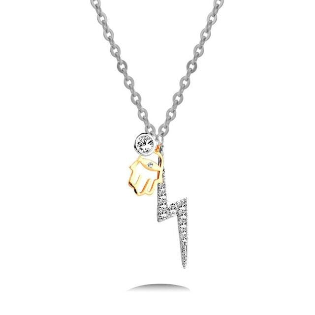 Paved Symbolic Crystal Women Necklace - Ylime