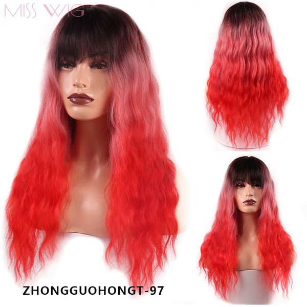 Wavy Long MISS Synthetic Women Wig - Ylime