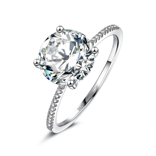 Classic Crystal Women Sterling Ring - Ylime