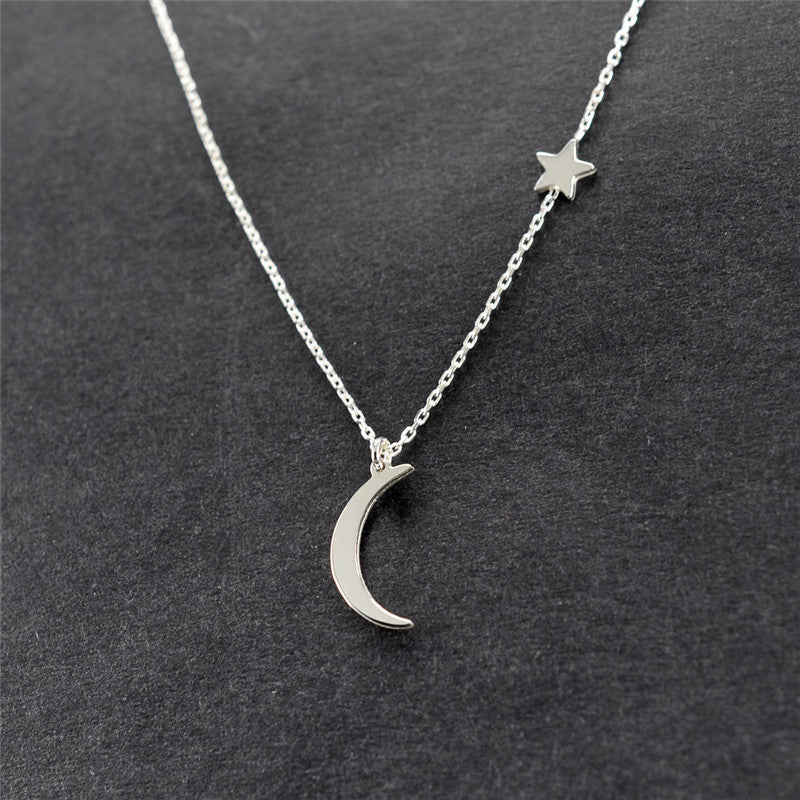Moon & Star Classic Women Bijoux Necklace - Ylime