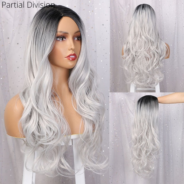 Beauty Long Wavy Ombre Women Wig - Ylime