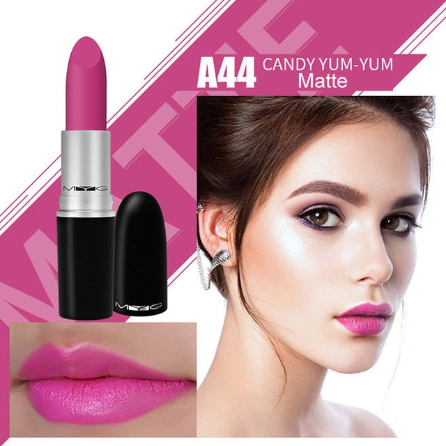 Top Quality MYG Matte Lipstick professional Lips Makeup Long-lasting Waterproof Lipstick Red Nude - Ylime