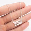 Stainless Steel Year Plaque Custom Necklace - Ylime