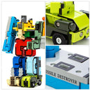 Creative Assembling Transformation Robot Deform Plane Car - Ylime