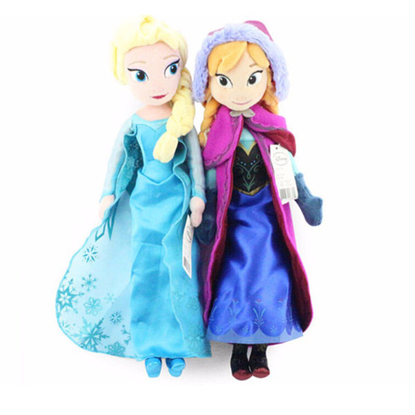 Plush Doll Toys Cute Girls Princess Anna& Elsa Doll - Ylime
