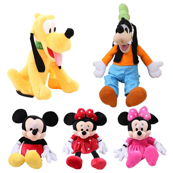 Mickey Mouse Minnie Goofy Pluto Dog Cute Plush Toys - Ylime