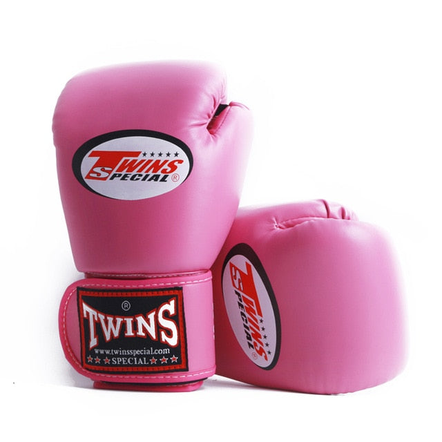 Men Women Kids pair PU Leather Kick Boxing Gloves Karate Muay Thai MMA Boxing - Ylime
