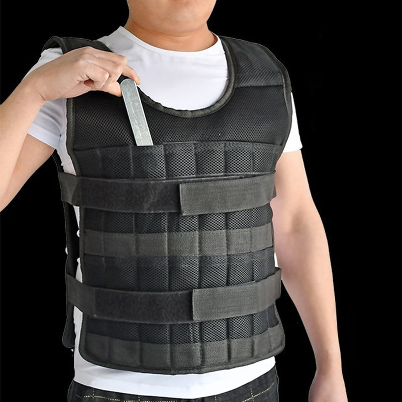 Weighted Vest Adjustable Loading Weight Jacket Exercise Boxing Training Vest(Empty) - Ylime