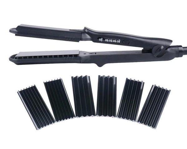4 in 1 Heat-Resistant Ceramic Hair Curling Iron - Ylime