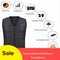 Men Women Outdoor USB Infrared Heating Vest Jacket Winter Flexible Electric Thermal Clothing - Ylime