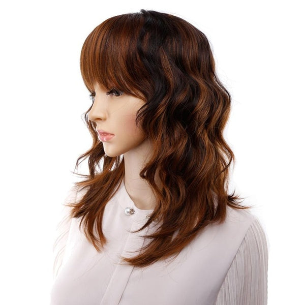 Short Synthetic Mixed Colors Woman Wig - Ylime