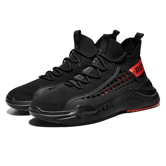 SUROM Running Shoes For Men Summer Sneakers Breathable Mesh Outdoor Sport Shoes Men Increase Black  Upper Lace Up Male Shoes - Ylime