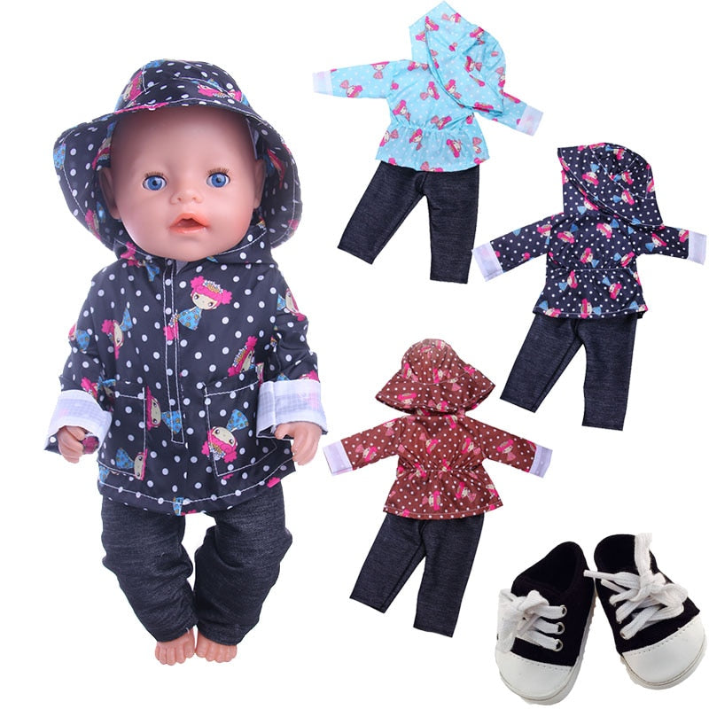 Baby Doll Clothes Accessories Girl's Hat+Coat+Pants - Ylime