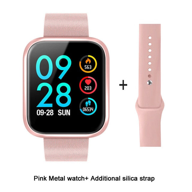 Fitness Smart Watch Blood Pressure Heart Rate Monitor IOS Android - Ylime
