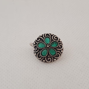 Nose Pin - Oxidized Silver