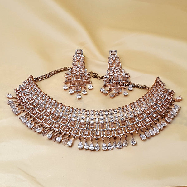 Choker Necklace - High Quality Zircon Stone