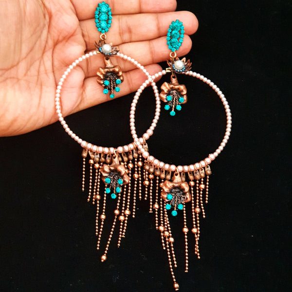 Fashionable Earrings (Copper Metal)