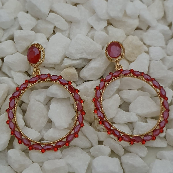 Colorful Stone Dangler Earrings