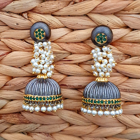 Traditional Earring Jhumka with Pearl