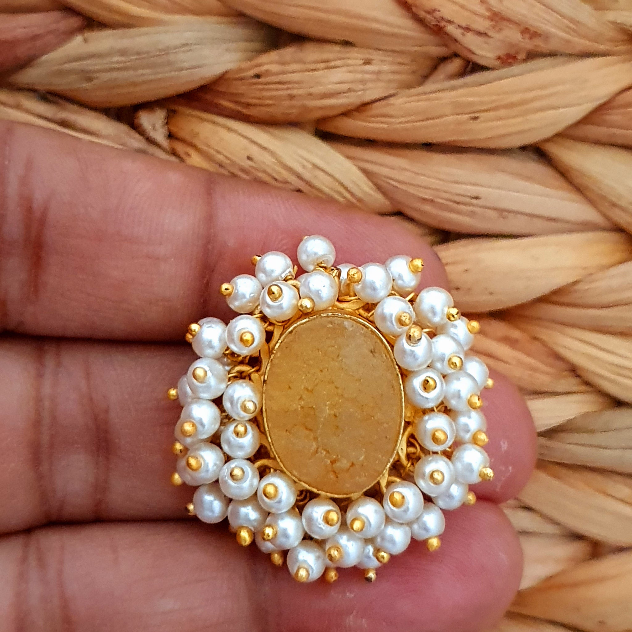Traditional Earring with Pearl