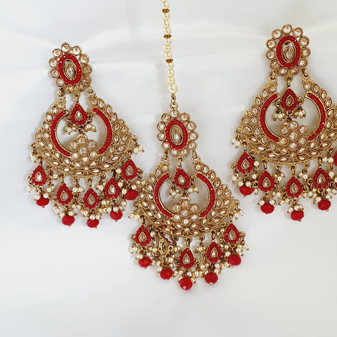 Designer Maang Tikka with Earrings