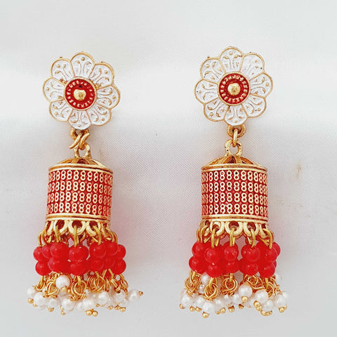 Earrings with multicolor