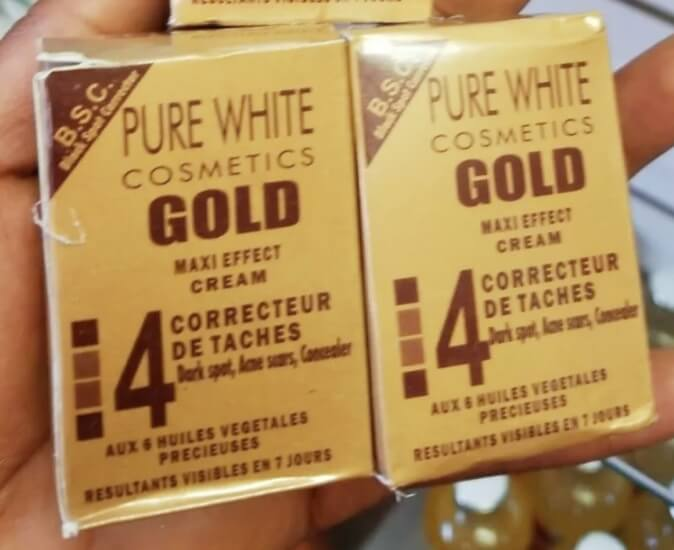 1 Pack Pure White Cosmetics Gold Maxi Effect Cream