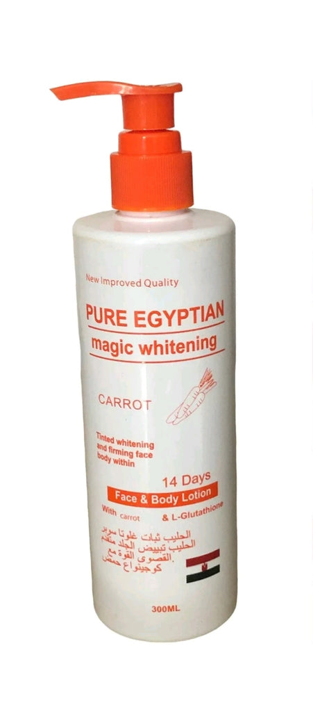 Pure Egyptian Magic Whitening Carrot body and face Lotion 300ML