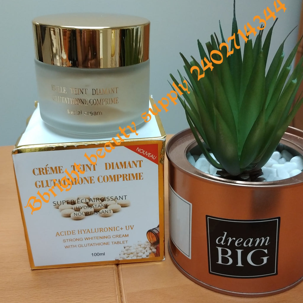 Glutathione comprime Super Eclaircissant strong whitening face cream with glutathione tablet 100ml