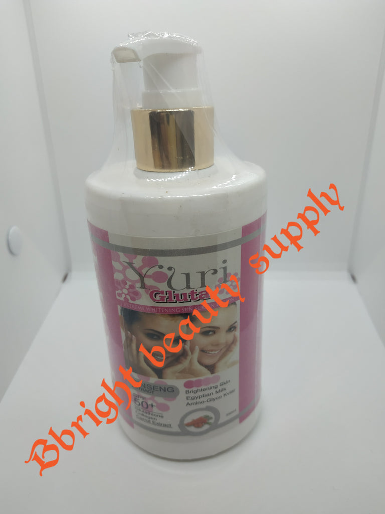 Yuri Gluta Extreme Whitening Sun Screen lotion with Ginseng Extract +Spf 50 350ml