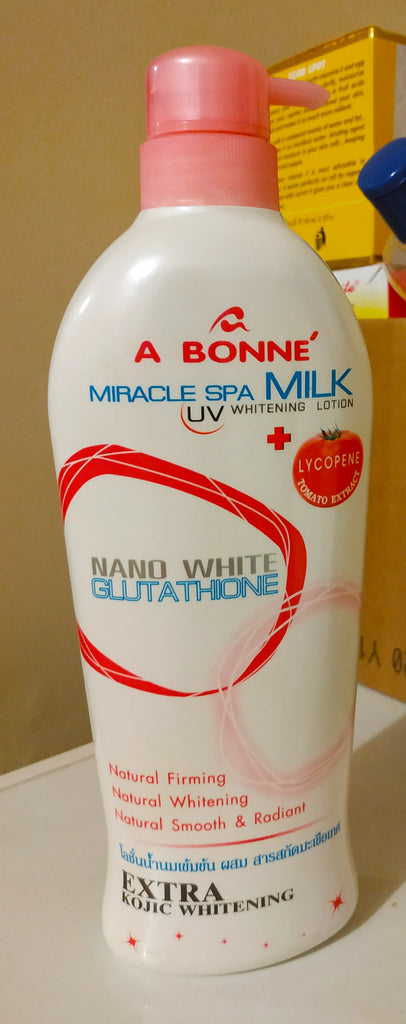 A Bonne Miracle Spa milk UV whitening lotion with Nano white glutathione 500ml