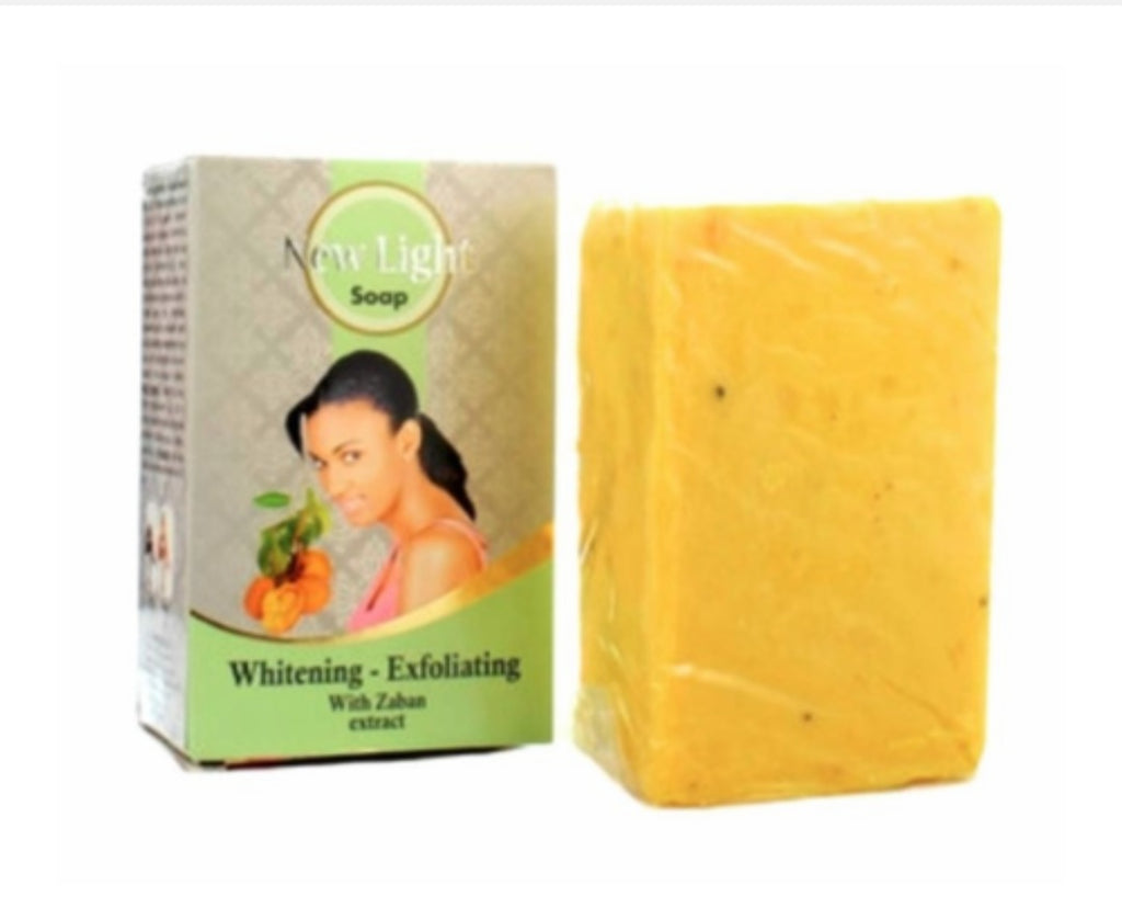 New Light whitening exfoliating with zaban extract soap 350g