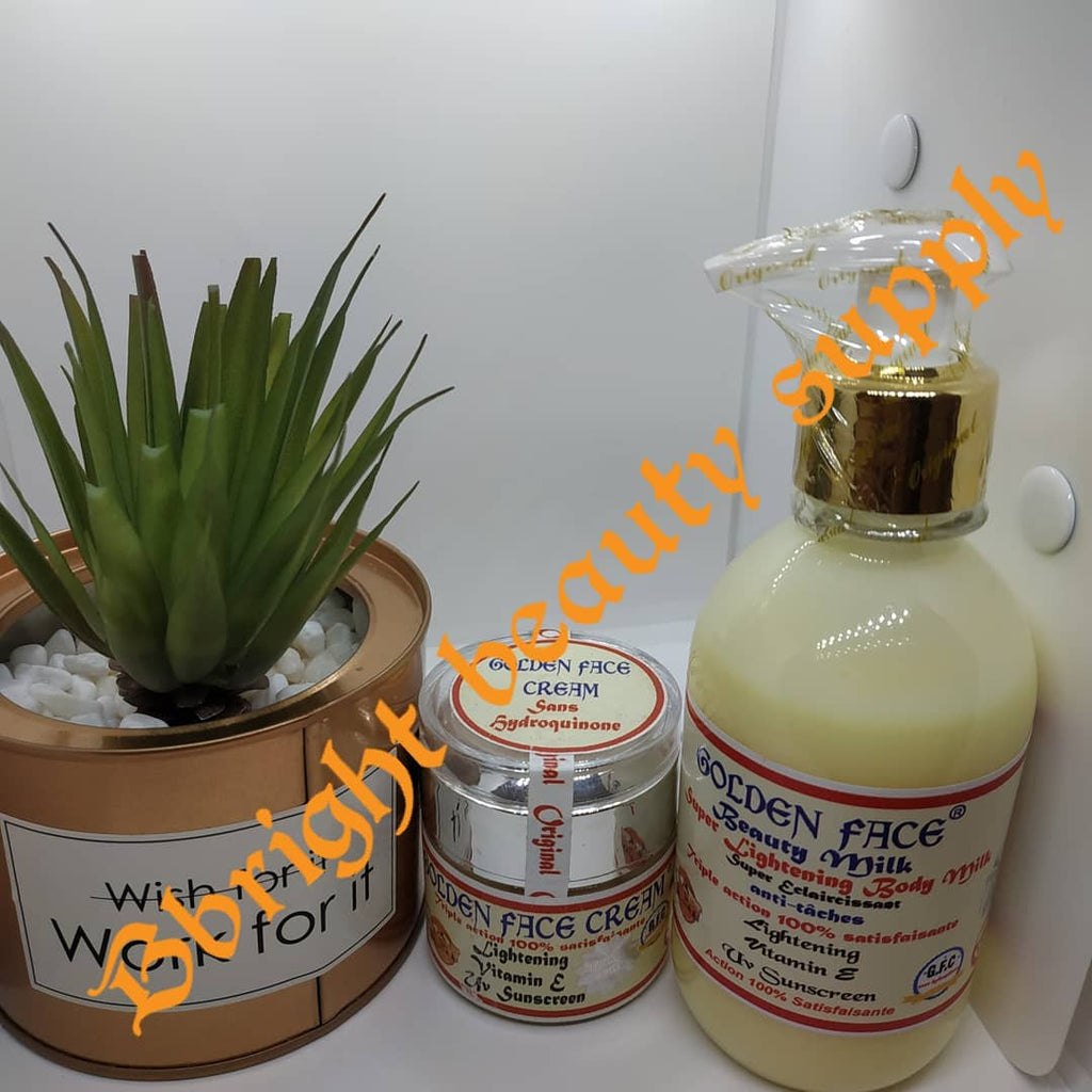 Golden Face Beauty Milk Super lightening body milk + Golden face cream