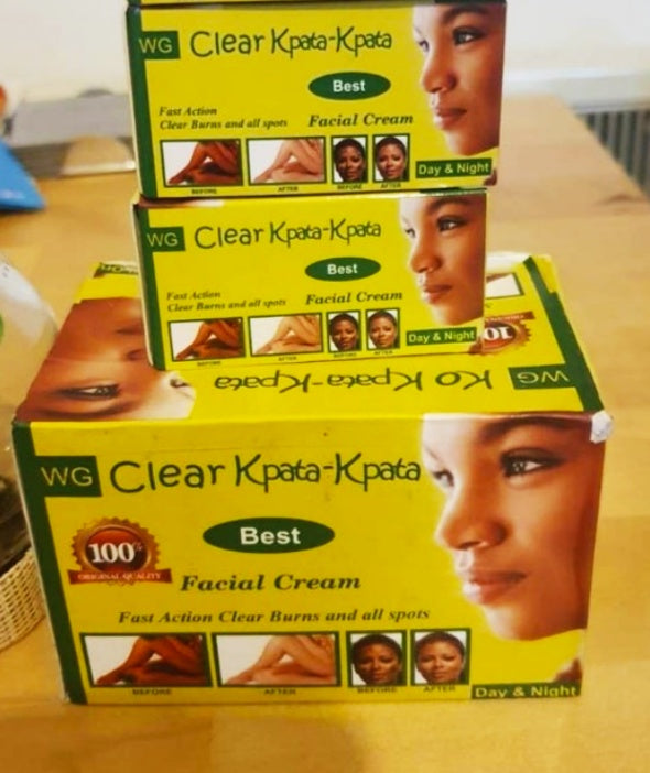 Clear kpata kpata facial whitening day and night cream.