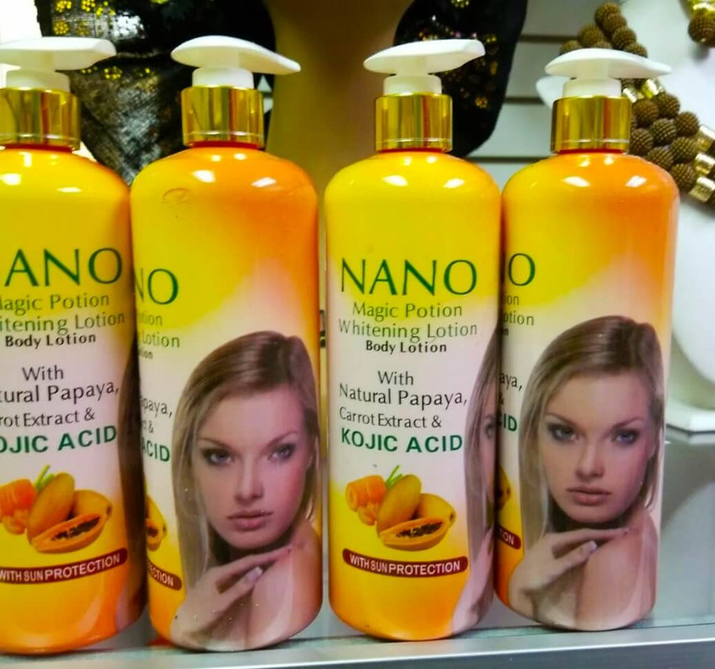 Nano Magic Portion Whitening Lotion with Natural Papaya & Carrot Extract 500ml