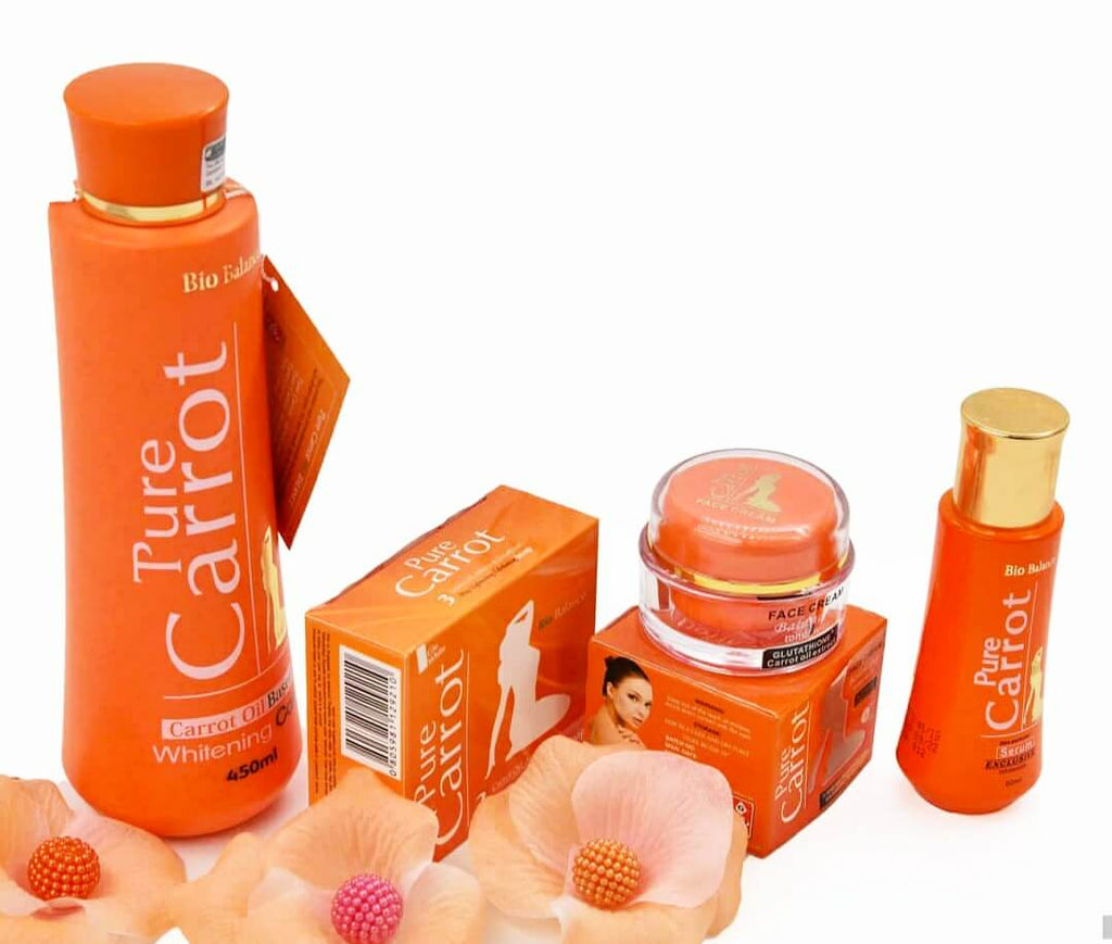 Pure Carrot Bio Balance Carrot Oil Based Lotion Set(Lotion,Serum,Soap,Face Cream)