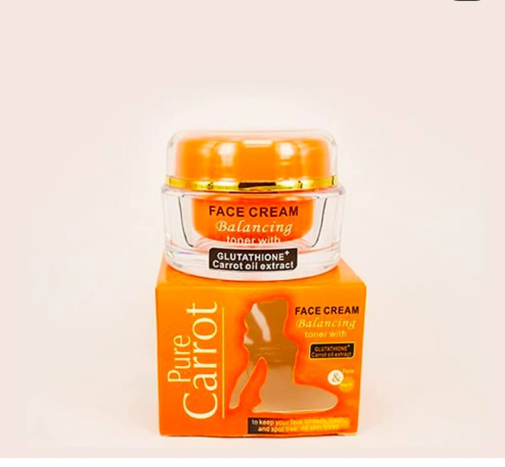 Pure Carrot Face Cream Balancing Toner with Glutathione+Carrot Oil Extract