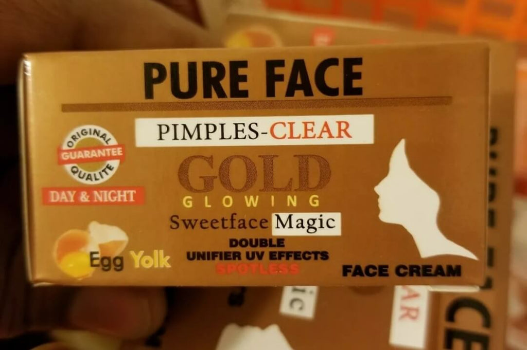 Pure Face Gold Glowing Pimples Clear Face Cream Day and Night