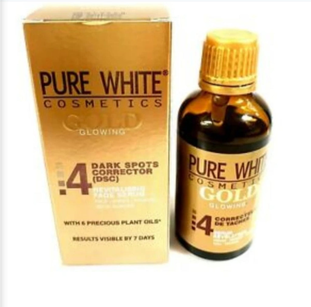 Pure White Cosmetics Gold Glowing Serum Dark Spot Corrector 50ML