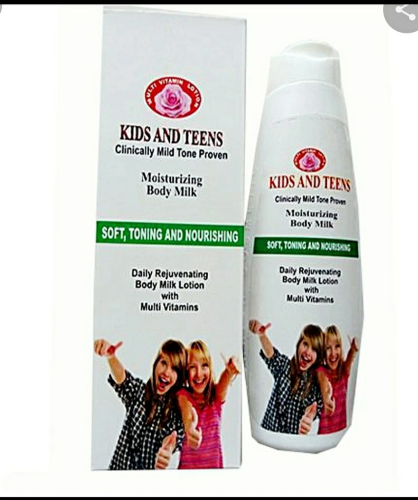 Kids and Teens moisturizing body milk with multivitamin 350ml