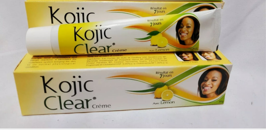 Kojic clear tube cream with lemon extract