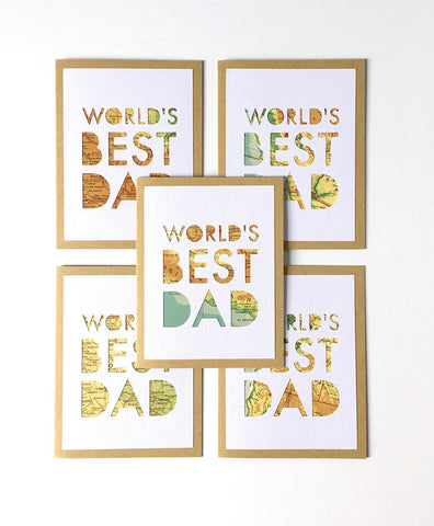 World's Best Dad Cards