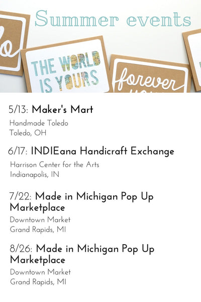 Type Shy Summer Craft Show Schedule