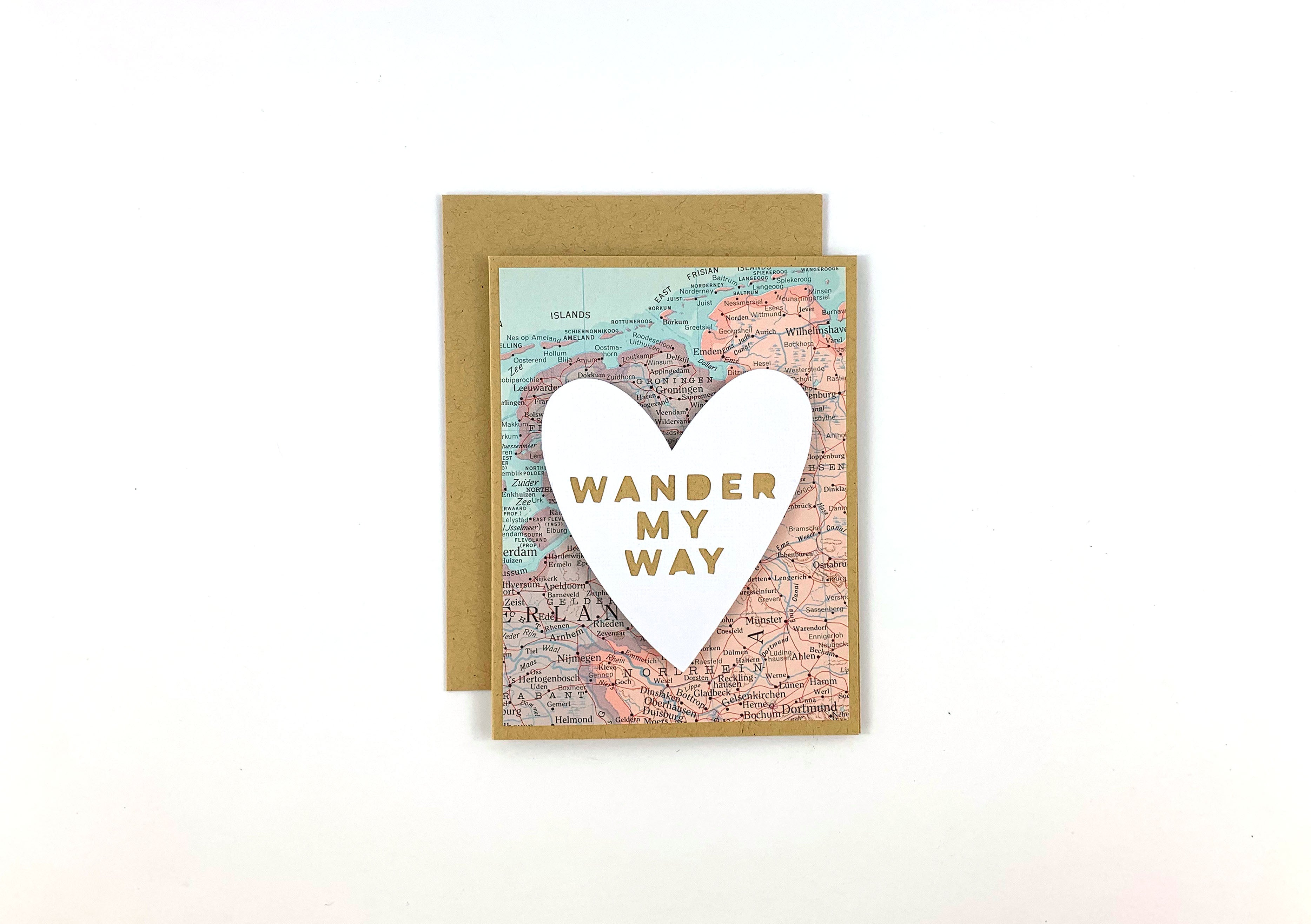 Handmade Love Map Card by Type Shy